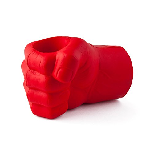 BigMouth Inc The Beast Giant Fist Drink Kooler, Durable Foam Red Hand, Holds Can or Bottle, Keeps Drink Cold