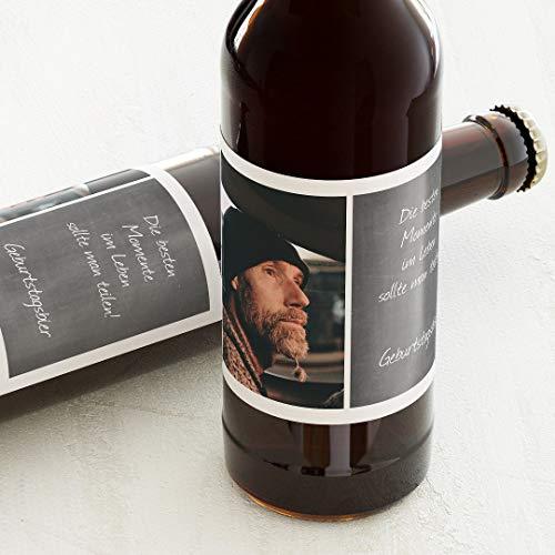 Etiketten für Flaschen, Ich, Sticker, selbstklebend, praktisch, individuell mit Wunschtext zum Geburtstag, für Bierflaschen, als Tischdekoration, Querformat, ab 10 Stück