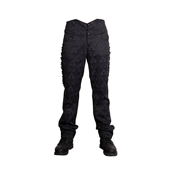 Devil Fashion Men Victorian Gothic Vintage 3-Piece Suit Tailcoat Shirts Pants Set 5