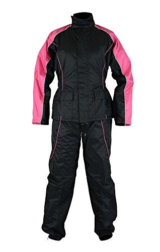 DS598PK Women's Rain Suit (Hot Pink) - Motorcycle Rain Gear