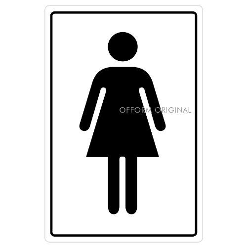 Ofform - Folio Signs Autocollant I Sticker Porte WC Femmes I 130x90 mm I Lot de 5 I Nr.43705-5