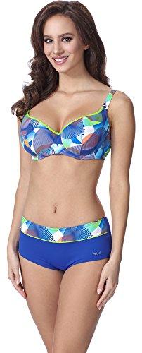 Feba Donna Modellante Corpo Bikini F06 (Motivo-307, EU Cup 80G / Parte Inferiore 40 = IT (Cup 3G / Parte Inferiore 46))
