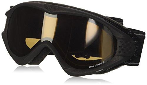 Uvex Unisex– Erwachsene Onyx Pola Skibrillen, Black metallic matt, one Size