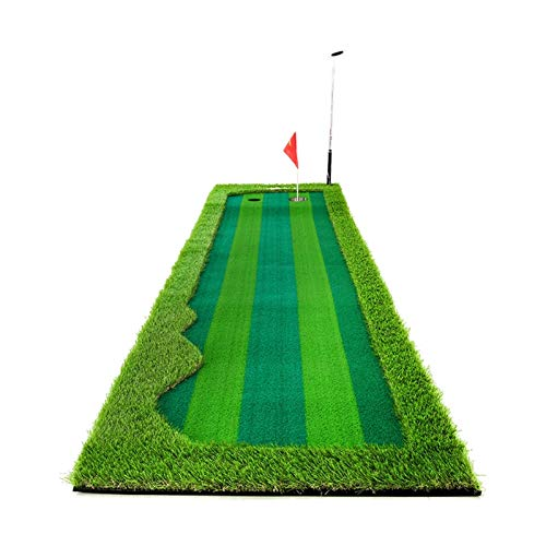 LLF Alfombras de Putting, Golf Poner Colchonetas, Práctica De Golf Accesorio Golf Golf Artificial Green Putting Putson Putiser Interior/Exterior con Diseño De 2 Hoyos (Size : 0.75 * 3M)