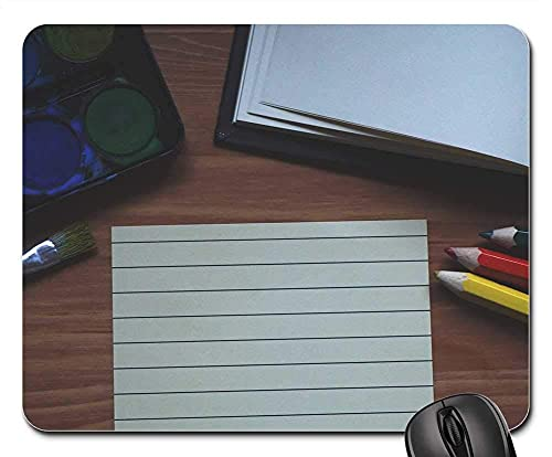 Mauspad Malen Notizbuch Pinsel Bleistift Schaum Papier Malerei Gaming Mousepad Anti Rutsch Gummiunterseite Ultradünner Gaming Mausmatte Stabiler Mausunterlage Für Laptop/Pc, 25X30 Cm