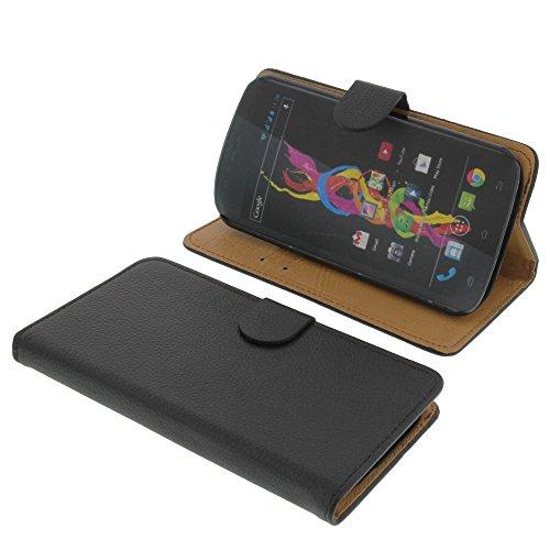 foto-kontor Tasche für Archos 53 Platinum Book Style schwarz Kreditkarte Schutz Hülle Buch