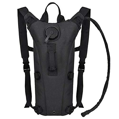 AIMILL Tactical Molle Hydration Pack Bag Water Camel Backpack Reservoir Carrier Daypack,Tactical Hydration Backpack Molle 3L With Bladder For Men, BPA Free For Camping Climbing(Black#2,3l)