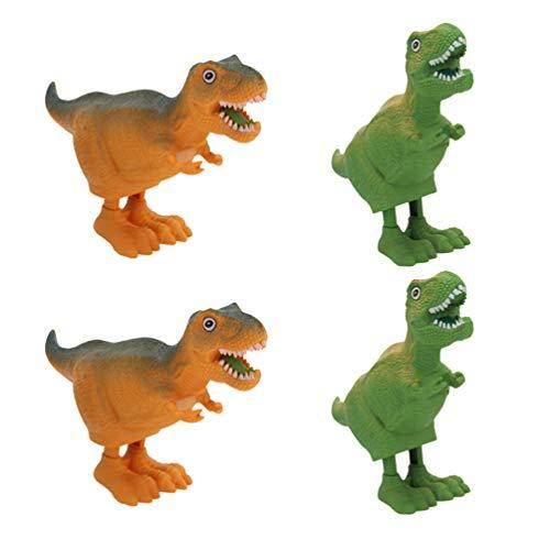 TOYANDONA Kinder Plastik Aufzieh Dinosaurier Spielzeug Geburtstagsfeier Liefert für Kleinkinder Kinder 4Pcs (Zufällige Farbe)