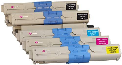 5er Set Premium Toner kompatibel für Oki C310dn C330dn C510dn C511dn C530dn C531dn MC361 MC361dn MC362dn MC561 MC561dn MC562dn | Schwarz 3.500 Seiten & Color je 2.000 Seiten