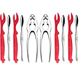 Crab Crackers and Seafood Tools Set Includeing 2 Crab Leg Crackers 4 Lobster Shellers 4 Crab...
