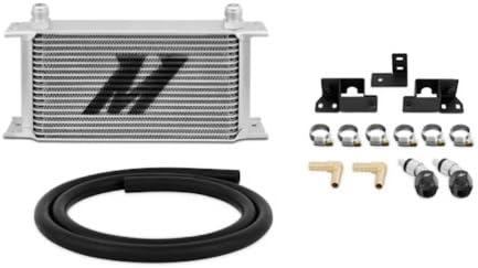 Mishimoto MMTC-WRA-07 Transmission Cooler Compatible With Jeep Wrangler JK 2007-2017 Silver