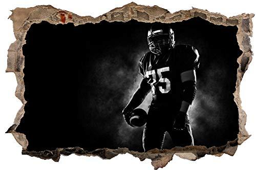 DesFoli American Football Spieler Wandtattoo Wandsticker Wandaufkleber D2084 Größe 60 cm x 90 cm