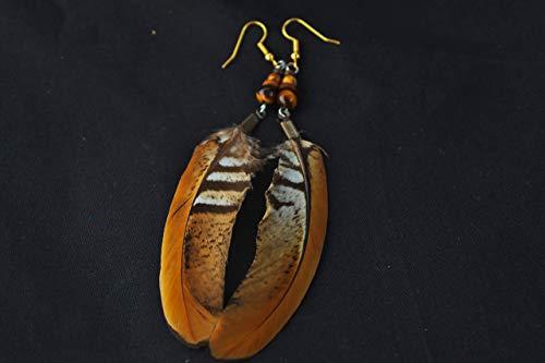 Natürliche Federohrringe, Königsfasan Federn, Handgemacht