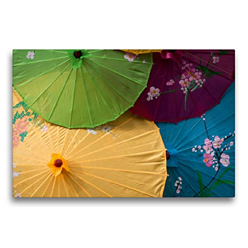 CALVENDO Premium Textil-Leinwand 75 x 50 cm Quer-Format Sonnenschirme, Leinwanddruck von Alain Gaymard