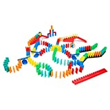 Bulk Dominoes 204 pcs Kinetic Dominoes Large PRO-Scale Stacking Building Toppling Chain Reaction Dominoes Set for Kids...