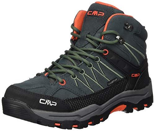 CMP – F.lli Campagnolo Unisex-Kinder Kids Rigel Mid Shoe Wp Trekking- & Wanderstiefel, Grün (Jungle-Tango 23TE), 38 EU