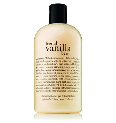 philosophy french vanilla bean shampoo, shower gel and bubble bath, 16 oz