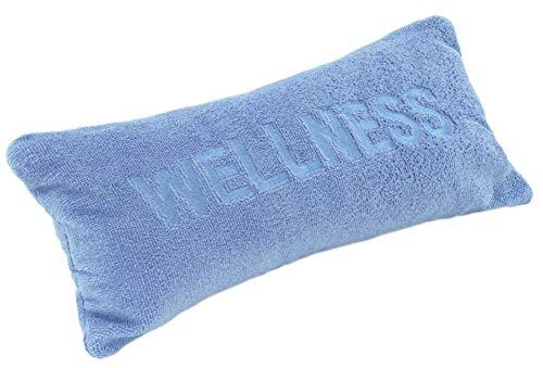 Brandsseller Wellness - Cojín para bañera con ventosas y cremallera de microfibra suave