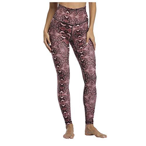 Marijee - Pantalón de yoga para mujer, cintura alta, anticelulitis, ajustado rojo XL