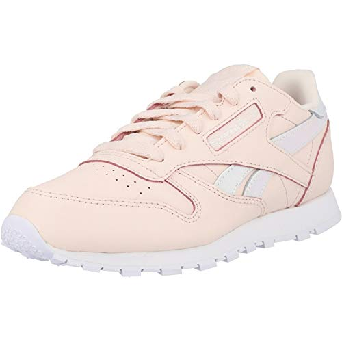 Reebok Mädchen Classic Leather Sneaker, Pink (Pale Pink/White 0), 35 EU