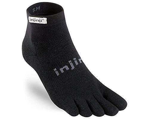 Injinji Calcetines Run Lightweight Mini-Crew Xtralife Black