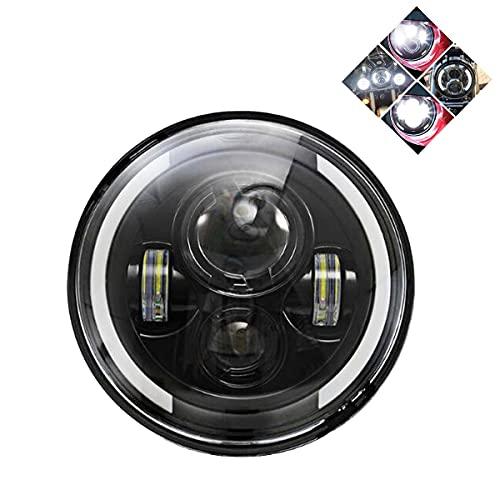 7 Zoll motorrad scheinwerfer Frontscheinwerfer 60W runder Halo Angel Eye weißer Scheinwerfer mit Halo Ring für Halle