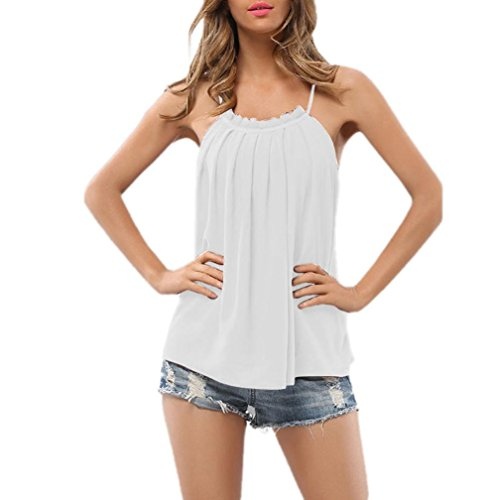 vermers Fashion Vrouwen Cami T-Shirt, Strappy Mouwloos Casual Chiffon Tops Blouse Vest