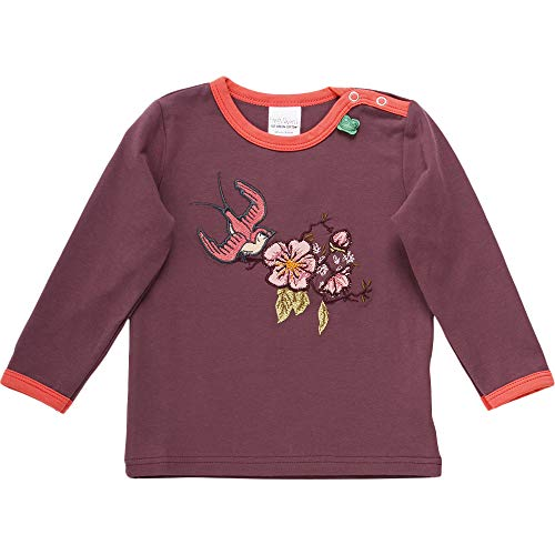 Fred'S World By Green Cotton Bird Front T T-Shirt, Violet (Plum Purple 019231101), 98 Bébé Fille