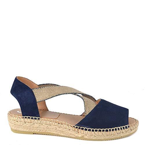 Kanna Ada Marino Flat Espadrille Sandal Blau 38 EU