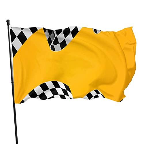 GOSMAO Bandera de jardín Fondo de Carreras Color Vivo y Resistente a la decoloración UV Banner de Patio Cosido Doble Bandera de Temporada Banderas de Pared 150X90cm