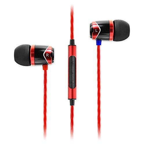 SoundMAGIC E10C High Fidelity Kopfhörer Smartphone Earbuds In Ear Noise Reduction Ohrhörer mit Mikrofon und Fernbedienung für Audiophile - Rot