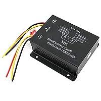 24V〜12Vの安定した高強度降圧電源、ブラックパワーコンバーター、自動車用に耐久性