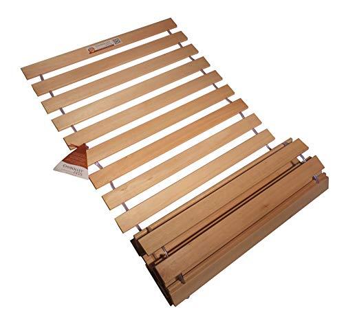 Chirollet® Somier enrollable de madera maciza de alta calidad, extra estable y extremadamente resistente, 90-140 x 200 cm (70 x 200 cm, 70 cm)