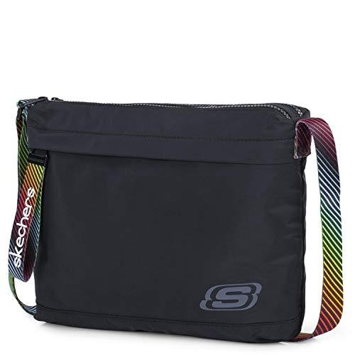 SKECHERS S897 Schoudertas klein messengertas van nylon met stof als origineel cadeau voor dames en heren