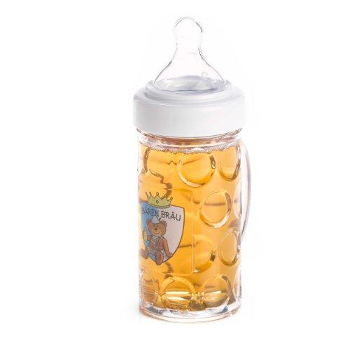 Biberón para bebé con forma de jarra de cerveza, color azul