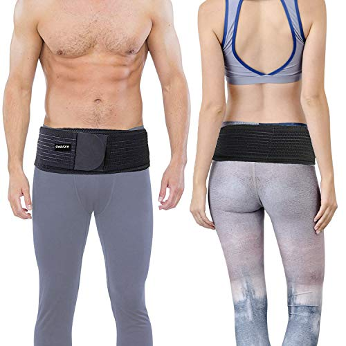 Si Belt for Women and Men (Plus) - Sacroiliac Belt, Stabilize SI Joint | Relieve Sciatic, Pelvic, Lower Back and Leg Pain, Anti-Slip & Pilling-Resistant & Breathable(Black, Plus)