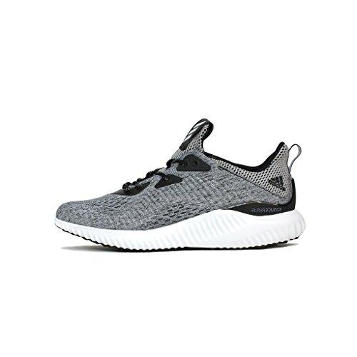 adidas Men's Alphabounce EM M Running Shoe, Black/White/Black, 9 M US