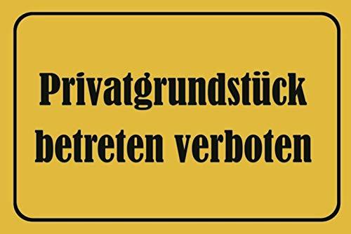Schatzmix Privatgrundstück betreten verboten Warnschild blechschild