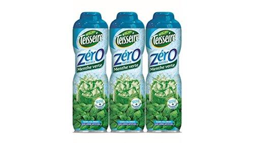 3 Grüne Minze 0% Sirup Zucker frei - 3 x 0,6L