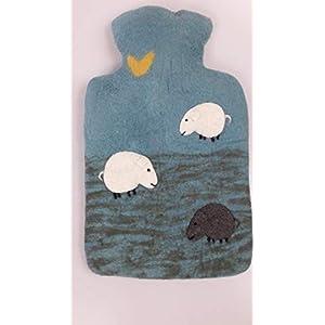 feelz – Wärmflasche Schlaf gut Schäfchen Filz Wolle (Merino) Wärmflaschenbezug Handarbeit – Fairtrade