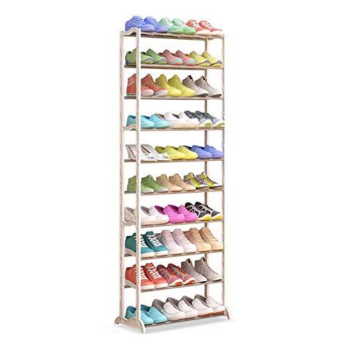 U/A Porte-Chaussures, 10-Couche Rack Chaussure réglable, ABS Cadre, Peut contenir 30 Paires de Chaussures, d'occasion dans Le Salon, Dressing Et Couloir, Blanc aycpg