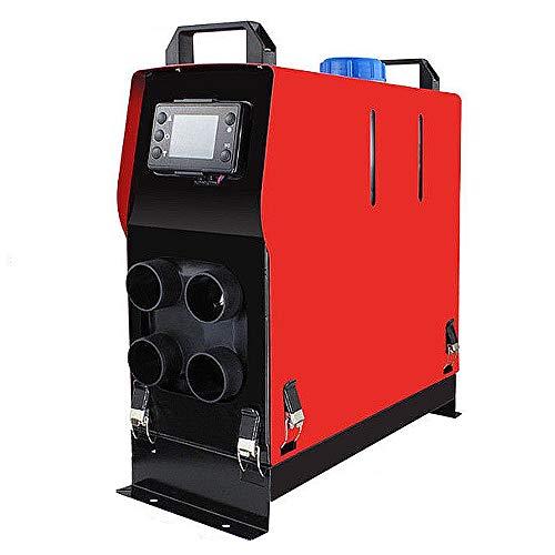 Calentador de aire diesel, Aire forzado Aparcamiento Calentador de 5 kW 24V / 12V todo en un kit con el escape del mando a distancia de tubería de conductos de aire para Trailer RV Camiones Coche,24V