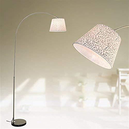 Busirsiz Lámparas de pie, Led creativo simple tela vertical dormitorio Cama brazo largo decorativa Lámpara de pie, Eye-El cuidado de luz vertical
