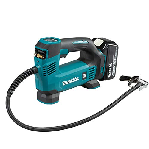 Makita DMP180RT1J 18V Li-ion LXT Inflator Complete with 1 x 5.0 A Battery and DC18RC Charger Supplied in a Makpac Case