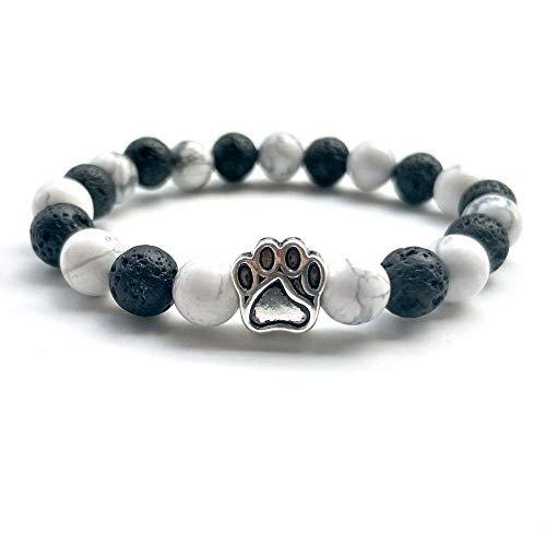 NA Armband SchmuckNatürliche Lava Stein Perlen Chakra Armband Für Frauen Männer Hund Katze Pfote Charm Strand Armbänder Yoga Armreifen Handgemachte Schmu