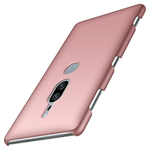 anccer Funda Sony Xperia XZ2 Premium, Ultra Slim Anti-Rasguño y Resistente Huellas Dactilares Totalmente Protectora Caso de Duro Cover Case para Sony Xperia XZ2 Premium (Oro Rosa Liso)