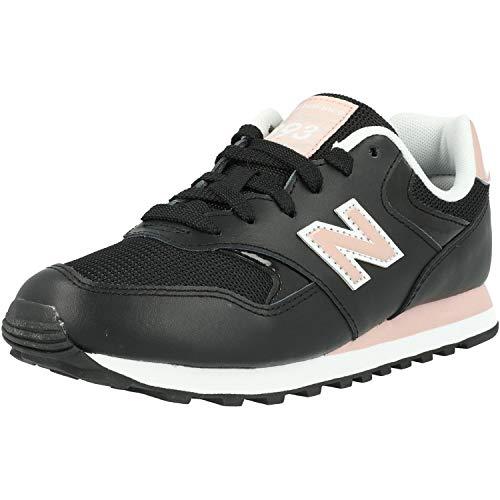 New Balance 393 Schwarz/Rosa (Black/Saturn Pink) Veloursleder 36½ EU