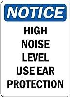 ノイズレベルが高い場合は耳栓を使用してください。金属スズサイン通知街路交通危険警告耐久性、防水性、防錆性
