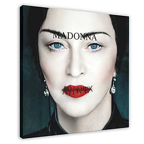 Madonna Madame X. Álbum de música portada de lona para decoración de pared, cuadro para sala de estar, dormitorio, marco de decoración de 40 x 40 cm