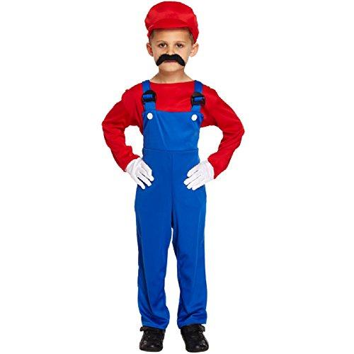 Kinder Jungen Kostüm Super Mario Arbeiter